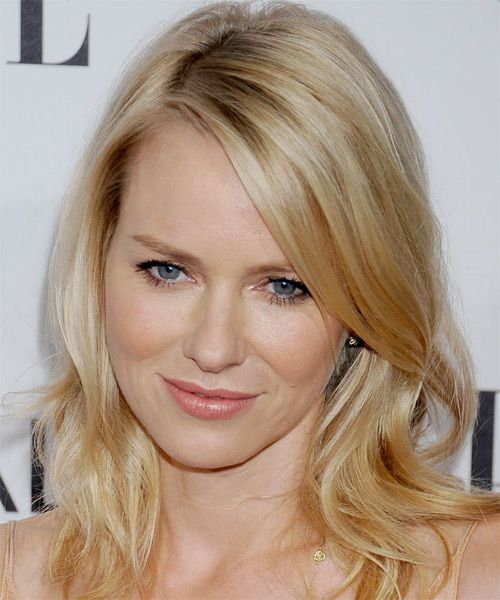 Naomi Watts Medium Straight Casual Hairstyle - Light Blonde (Golden) | TheHairStyler.com