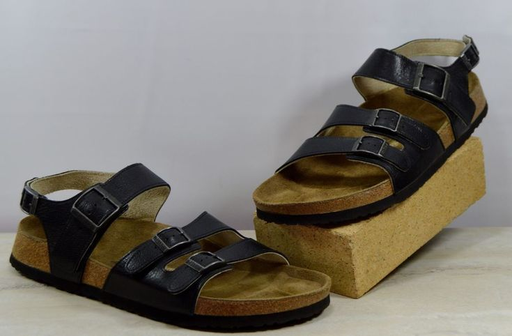 3.1 Phillip Lim Tatami Black Leather Sandals 46 US Men's Size 13-13.5 M #PhillipLimForTatami #Strap