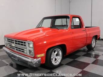 1984 chevrolet c10 i had one that sat at about the same height same color but my hood was. Black Bedroom Furniture Sets. Home Design Ideas