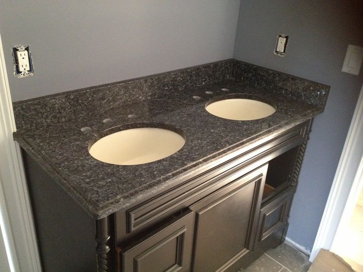 Blue Pearl Granite Vanity Top Not Sure I Like Dark Cabinets With Blue Pearl Bathroom Ideas