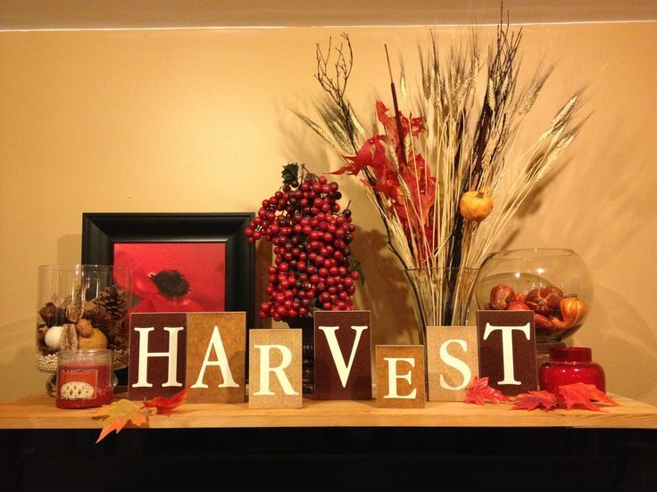 17 best images about mantel decor all on pinterest for Thanksgiving home ideas