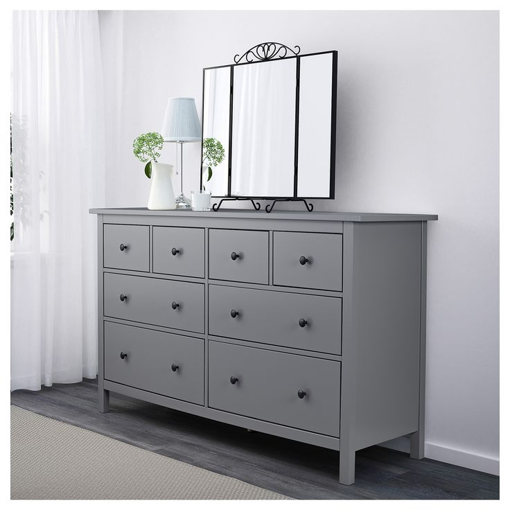 Hemnes Chest Of 8 Drawers Grey Ikea In 2019 Our Home