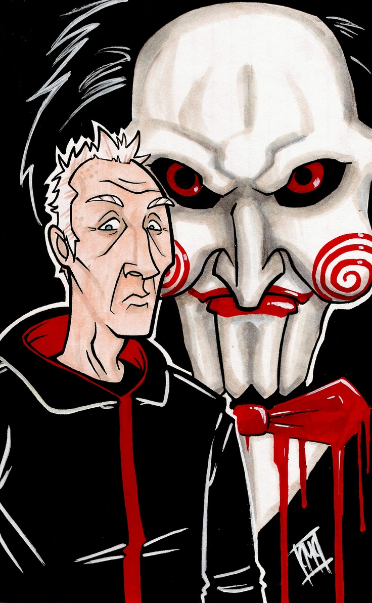 Jigsaw art from the SAW series of films.