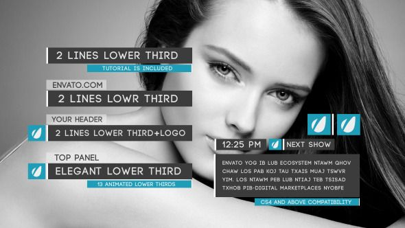 Clean Lower Thirds Package