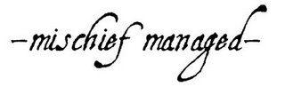 Harry Potter Tattoo - Mischief Managed