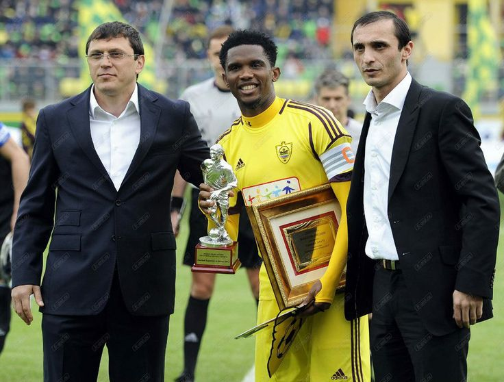 samuel eto'o fils   samuel eto o fils was honoured with an award as the player of the year ...