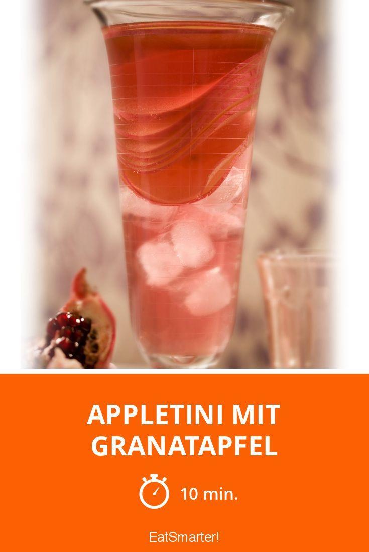 Appletini mit Granatapfel - smarter - Zeit: 10 Min.   eatsmarter.de