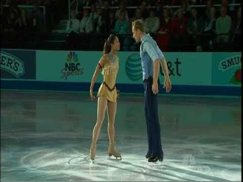 """This is fantastic! Pocahontas and John Smith """"Colors of the Wind"""" US SILVER MEDALISTS AMANDA EVORA & MARK LADWIG - EXHIBITION 2011 - VOB - YouTube"""