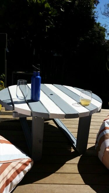 My up cycled outdoor coffee table