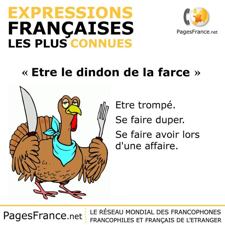 être le dindon de la farce.  Translation:  Be the turkey stuffing.  Or ... be the butt of a joke.
