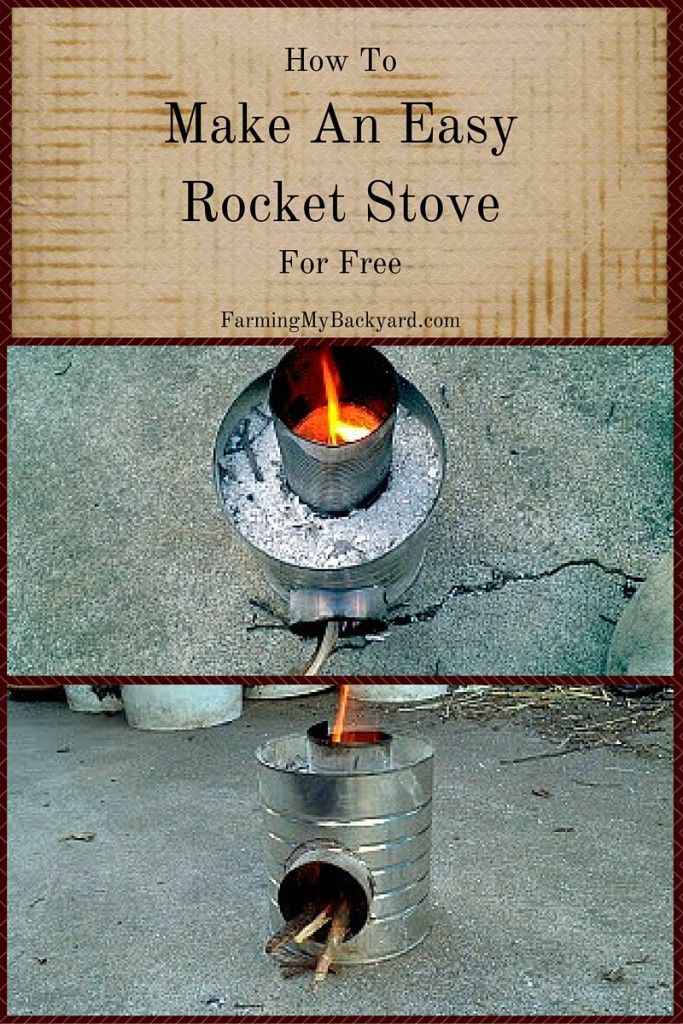 How to make an easy rocket stove for free how to make an for Make a rocket stove
