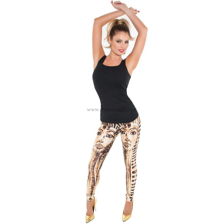 'Egyptian' leggings modelled by TOWIE's Chloe Sims