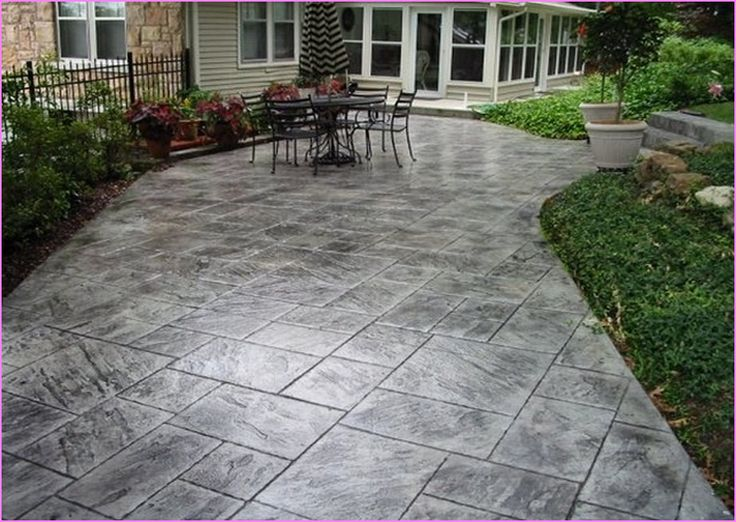 slate stamped concrete patio lammy pinterest best