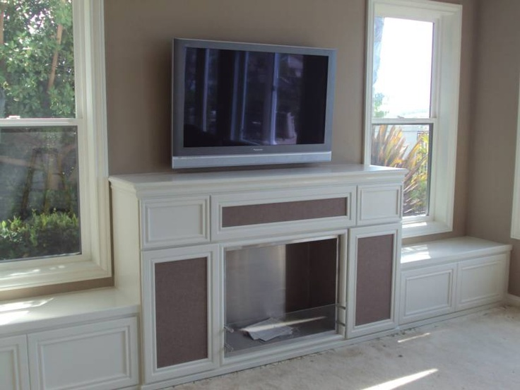 Fireplace Bench Seating Built In Cabinet And Bench Seats