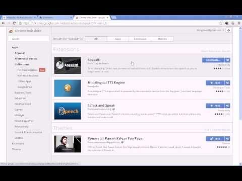 Google Chrome - Text to Speech! - YouTube