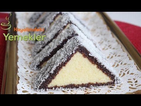 Üçgen Kek ( İngiliz Keki ) Tarifi - YouTube