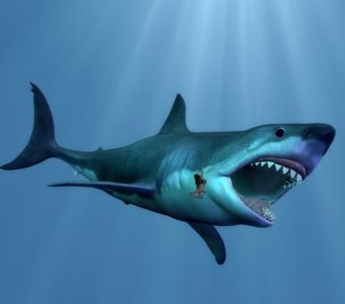 Megalodon - Is There Really Any 'New Evidence?': Is Megalodon still alive? Don't count on it (DeviantArt user Wolfman 1967)