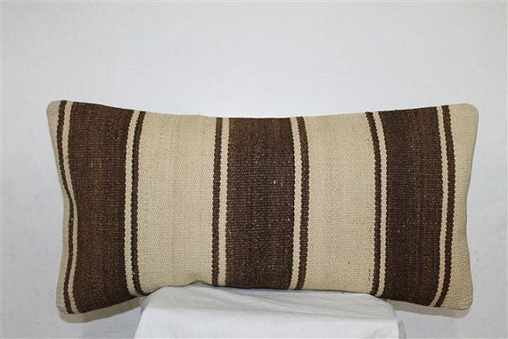 Lumbar Kilim Pillow  Wool Pillows Throw pillow by SeCLara on Etsy