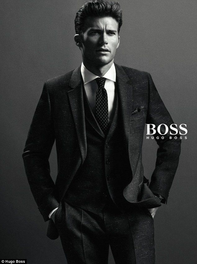 #Boss Model in the making: This marks Scott's first campaign for a high-fashion label...