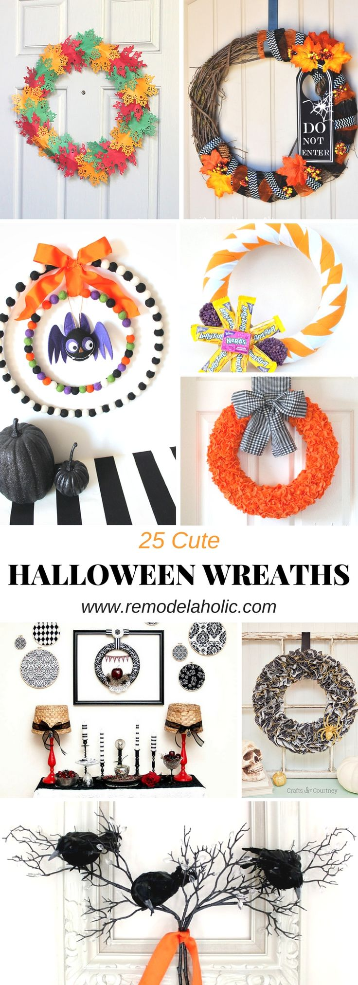 25 cute halloween wreaths - When To Start Decorating For Halloween