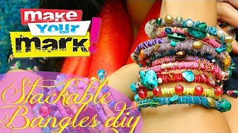 How to: Dyed Fabric Boho Bangles - YouTube