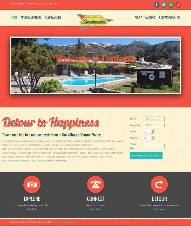 Contenta - Carmel Valley, California - www.contentainn.com Check out the awesome webpage designed by www.worldwebtechn... #webdesign, #worldwebtechnologies, #design