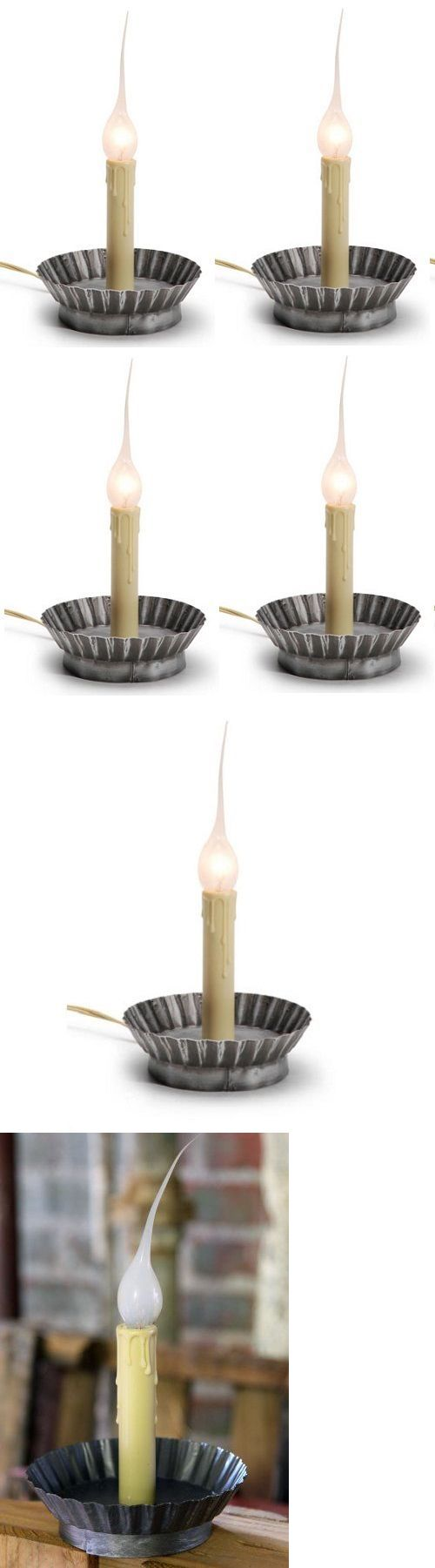 Candles and Candle Accessories 168138: (4) Ea Darice 6203-40 4.5 Electric Window Candle Lamps W Pie Tin Base -> BUY IT NOW ONLY: $39.97 on eBay!