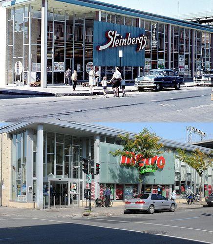 Vers 1959-2011 | Édifice commercial à l'intersection des rue… | Flickr