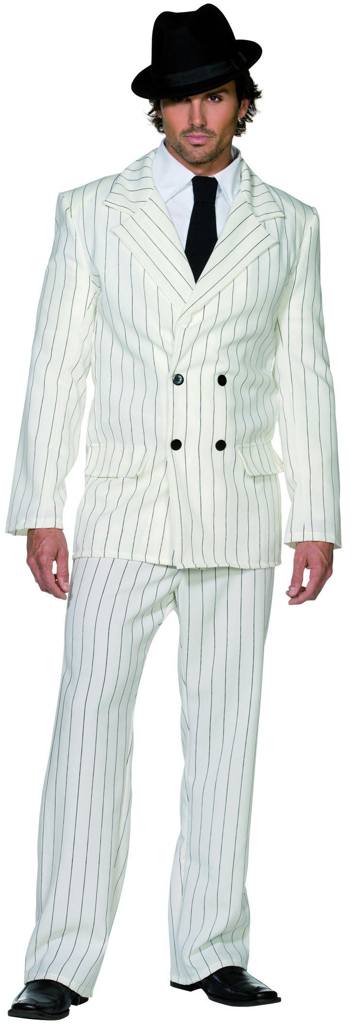 Déguisement gangster blanc homme : Ce déguisement pour homme de gangster blanc se compose d'un pantalon, d'une veste et d'une cravate. (Chapeau, chemise et chaussures non fournis). Disponible en Medium et en Large,...