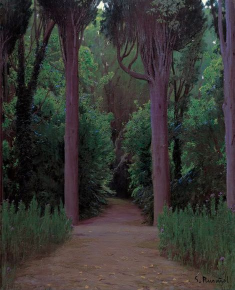 Santiago Rusiñol, Path in a Park (1920 - 1925) on ArtStack #santiago-rusinol #art