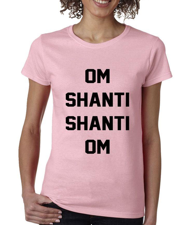 Om Shanti Shanti Om Yoga Womens T-shirt