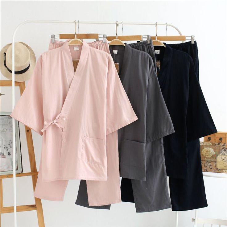 2017 Traditional Japanese Kimonos Women's Japan Cotton Yukata Women Lounge Home Clothing Suits Women Sleepwear Pajamas 121405