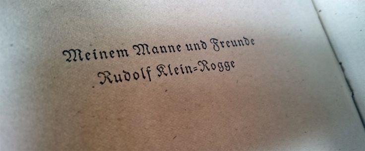 """Tja, das waren noch Zeiten, """"damals"""" in Nürnberg, bei einer solchen Buch-Widmung...!"""