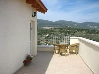 Entrance showing part of balcony  - Armon and Sara's Place - A room with a view! - Galilee - rentals