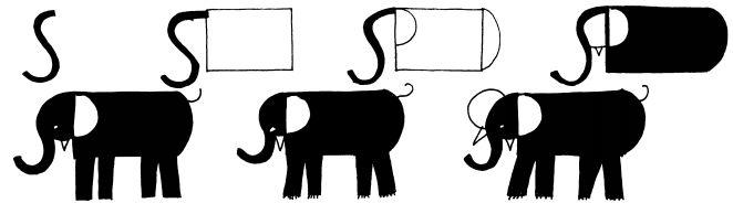 how to draw a cartoon elephant face