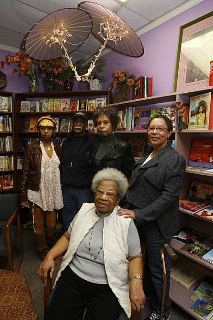 Marcus Books, one of the country's oldest African American-run bookstores, may be able to stay indefinitely in its San Francisco location under a deal the owners have reached with couple who purchased bookstore property earlier this year.  Dr. Raye Richardson (front), founder of Marcus Books, Blanche Richardson (right), Karen Johnson (behind Raye),Tamiko Johnson (far left), and Gregory Johnson at Marcus Books in San Francisco in 2010.  Photo: Liz Hafalia, The Chronicle