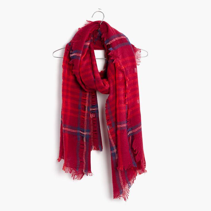 Womens Foulards De Câble, Rouge, Un Tableau De Bord De Taille