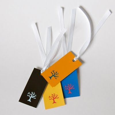 Paint chip gift tags