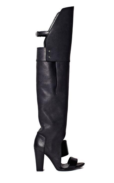 Phillip Lim Black Ora Over The Knee Boot Sandal: Phillip Lim, Boot Sandal, Lim Black, Knee Boots, Black Shoes, Black Ora, Moda Operandi, 3 1 Phillip