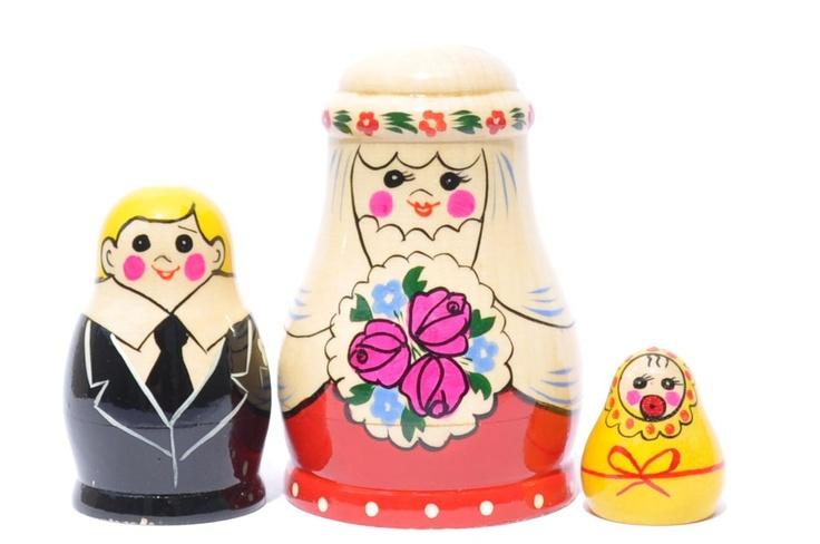A 3 Nested Set of Semenyov Matryoshka, Wedding
