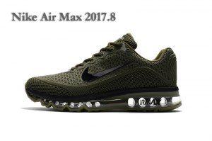 Mens Nike Air Max 2017. 8 KPU Sneakers Army Green Black  6c90cf4e6