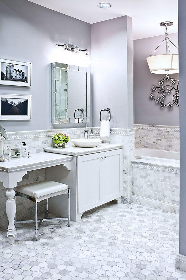 I like this hexagon floor camerino listello in for Bathroom design 3x3