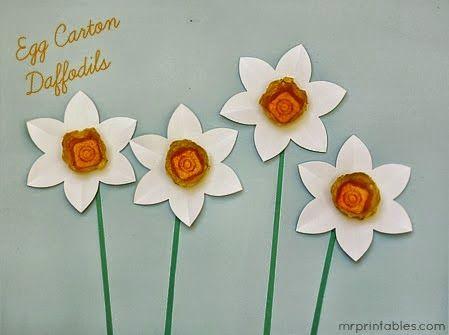 Flores com caixa de ovo para a primavera - Reciclagem - Mundinho da Criança - Atividades para Educação Infantil