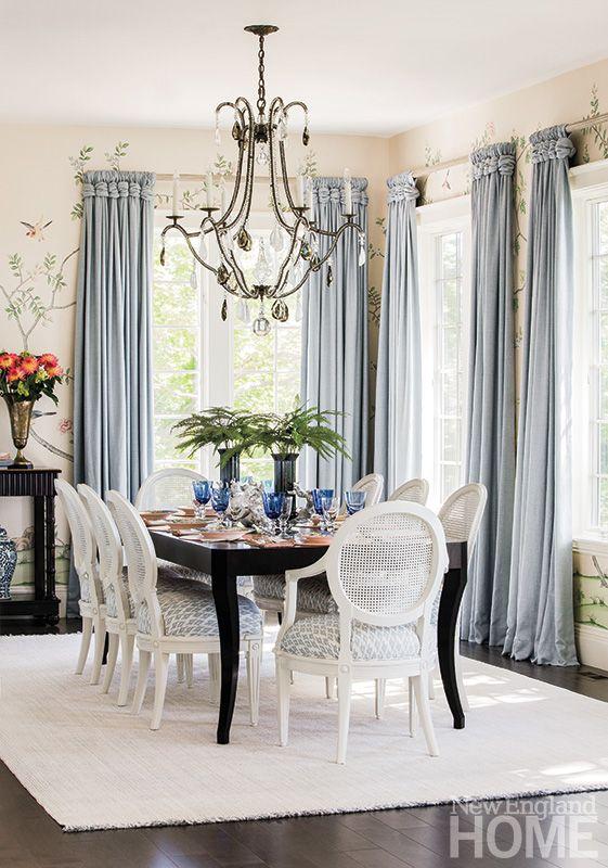 love the window treatments | New England Home Magazine