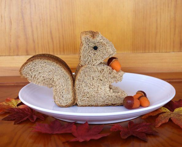 Kids Lunch: Squirrel Sandwich | Food art for kids