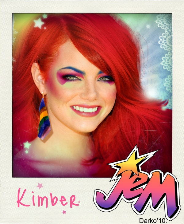 135 best jemtastic images on pinterest jem and the holograms 80 emma stone as kimber jem costumecostume makeuphalloween ccuart Images
