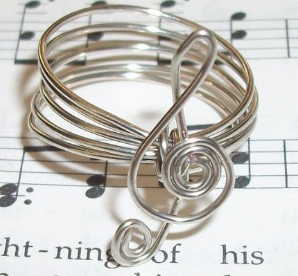 Sterling Silver Treble Clef Ring
