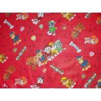 Lenjerii de pat copii Paw Patrol rosu 140x210