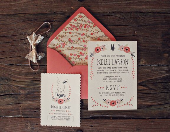 adorable baby shower invite by Kelli Murray