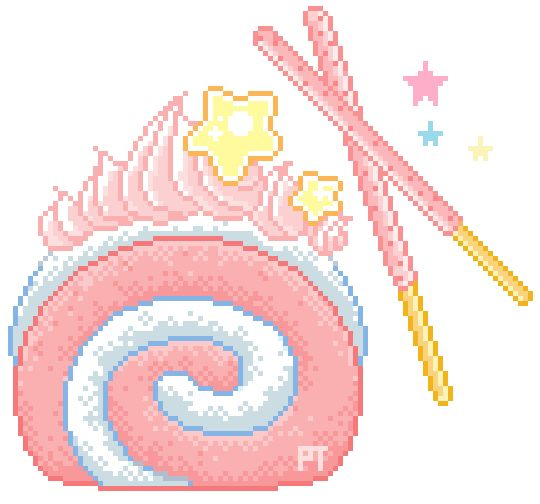 Pixel Art Of A Cake : 245 best images about lovely pixels on Pinterest Kawaii ...